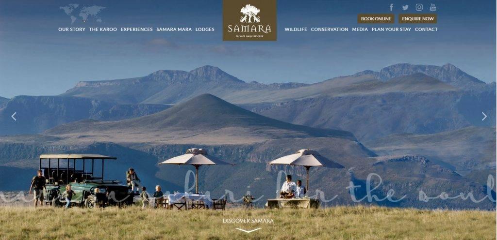 Samara Game Reserve Home Page